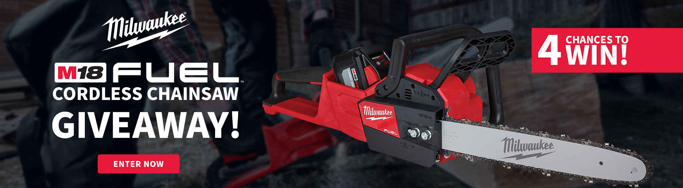 Milwaukee M18 FUEL Cordless Chainsaw Giveaway!