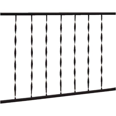 Gilpin Windsor 32 In. H. x 6 Ft. L. Wrought Iron Railing