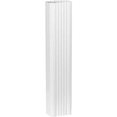 Spectra Metals 3 In. x 4 In. x 15 In. K-Style White Aluminum Downspout Extension
