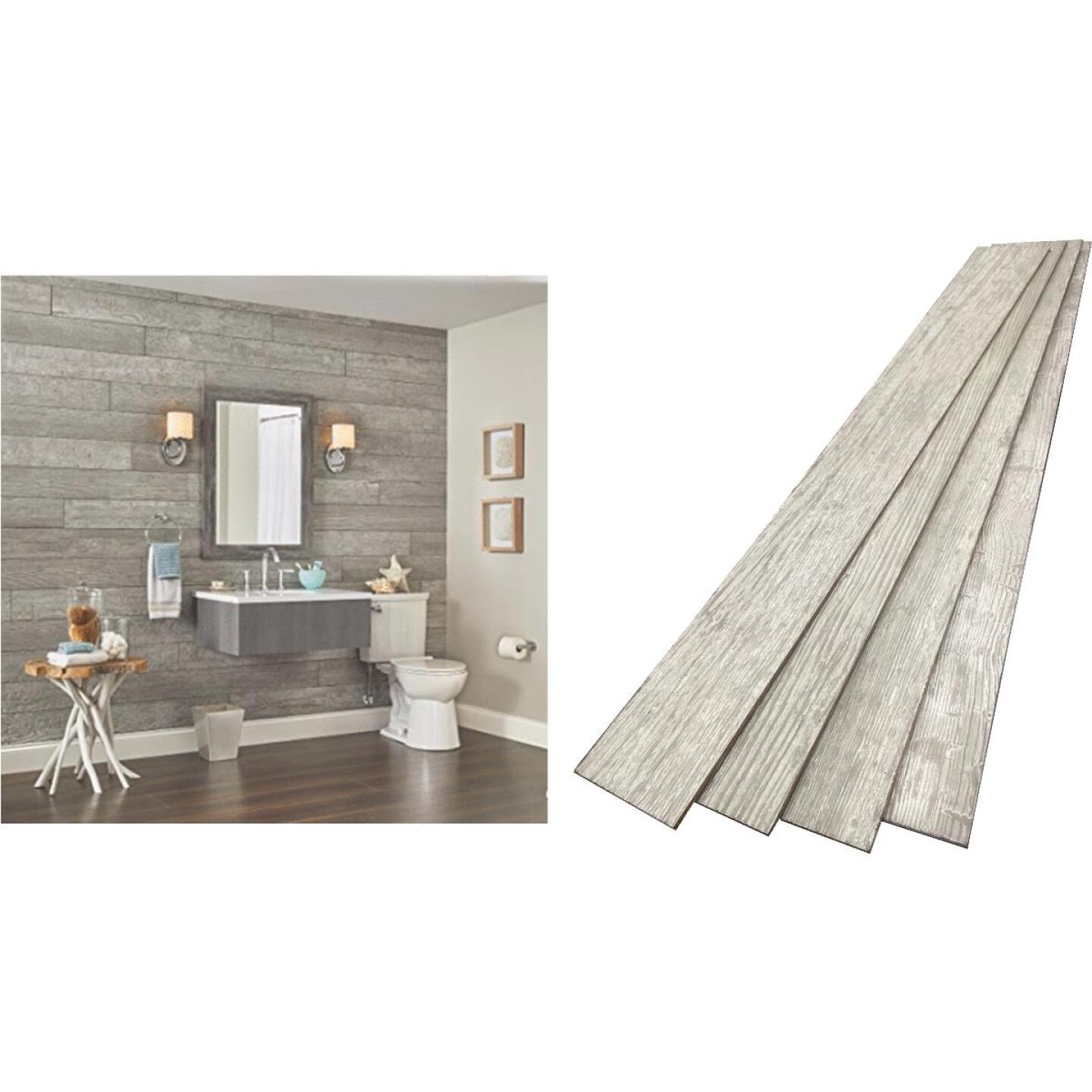 DPI 6 In. W. x 48 In. L. x 1/4 In. Thick Pewter Gray Rustic Wall Plank (12-Pack) Image 1