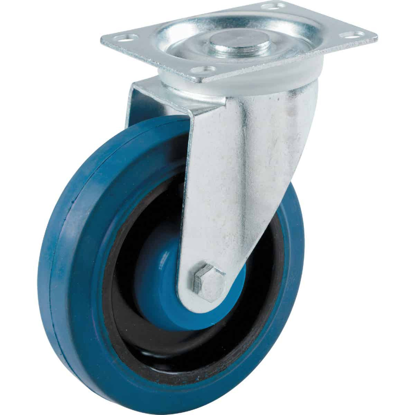 Shepherd 4 In. Elastic Rubber General-Duty Swivel Plate Caster Image 1