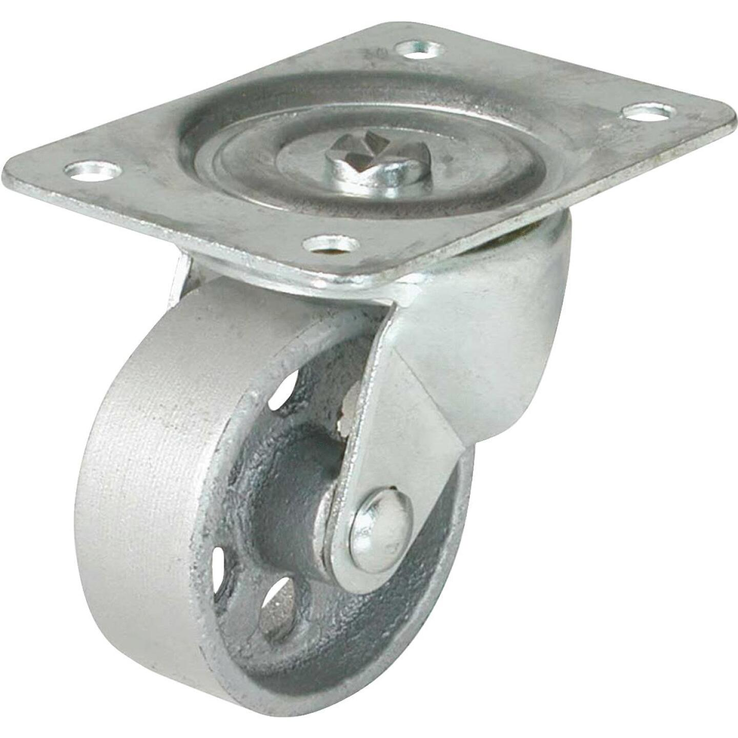 Shepherd 4 In. Cast-Iron General-Duty Swivel Plate Caster Image 1
