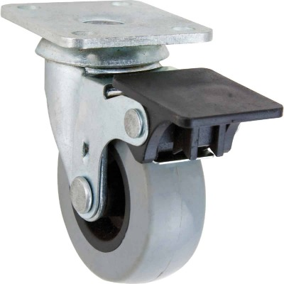 Shepherd 2 In. Thermoplastic Swivel Plate Caster with Brake