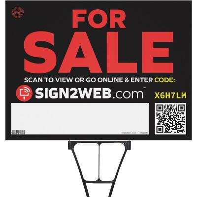 Sign2Web 18 In. x 24 In. Double-Sided For Sale Sign