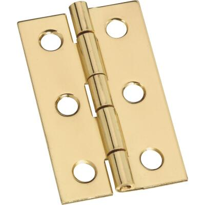 National 1-3/16 In. x 2 In. Brass Surface Mount Medium Decorative Hinge