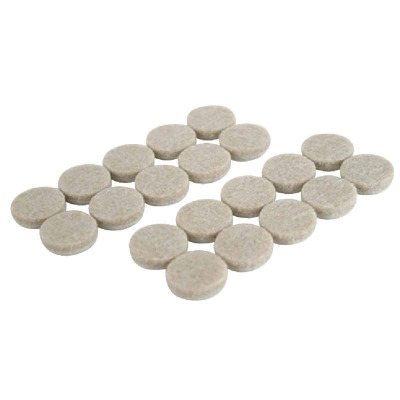 Magic Sliders 3/4 In. Oatmeal Self Adhesive Felt Pads,(20-Count)