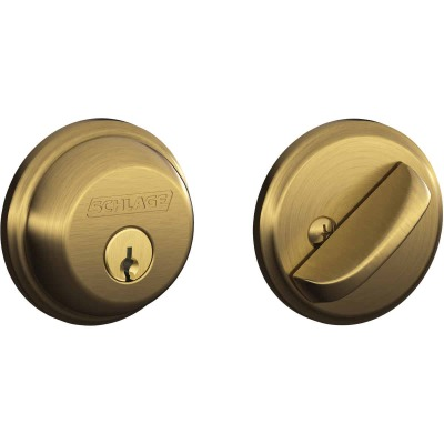 Schlage Antique Brass Maximum Security Single Cylinder Deadbolt