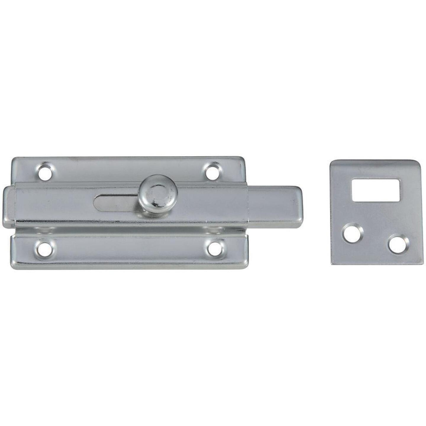 National 3 In. Chrome Door Slide Bolt Image 1