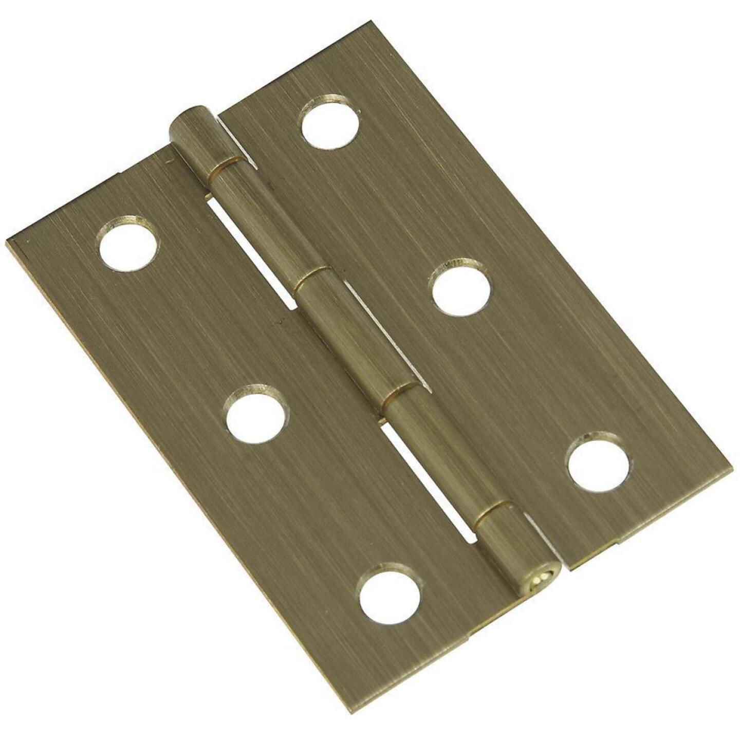 National 1-3/4 In. x 2-1/2 In. Antique Brass Medium Decorative Hinge (2-Pack) Image 1