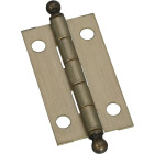 National 7/8 In. x 1-1/2 In. Antique Brass Ball Tip Hinge (2-Pack) Image 1