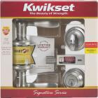 Kwikset Signature Series Satin Nickel Deadbolt and Lever Combo with Smartkey Image 3