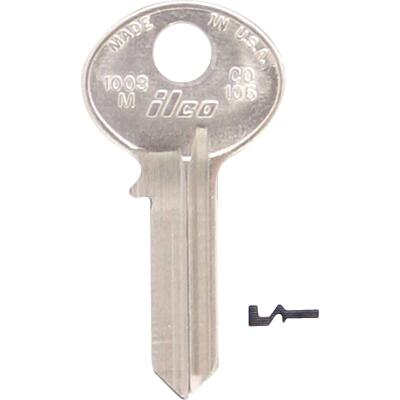 ILCO Corbin Nickel Plated Mailbox Key, (10-Pack)