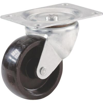 Shepherd 3 In. General-Duty Polypropylene Swivel Plate Caster