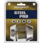 Steel Pro Antique Brass Single Cylinder Deadbolt Image 2
