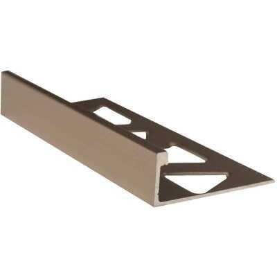 M D Building Products 3/8 In. x 8 Ft. Pewter Aluminum L-Shape Ceramic Tile Edging
