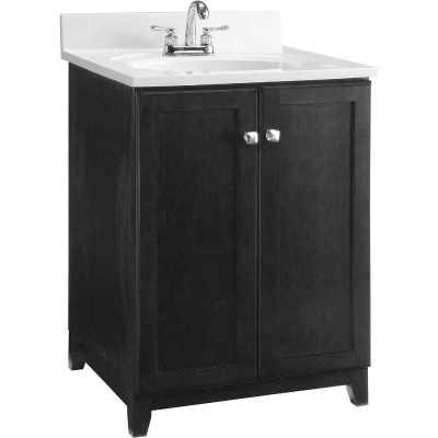 Design House Shorewood Espresso 24 In. W x 33 In. H x 21 In. D Vanity Base, 2 Door