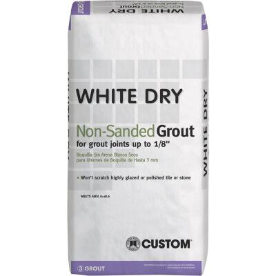 Custom Building Products White Dry 25 Lb. White Non-Sanded Tile Grout