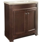 Continental Cabinets Duvall Cafe Black Glaze 30-3/4 In. W x 34-3/4 In. H x 18-1/2 In. D Vanity with Top Image 1