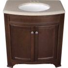 Continental Cabinets Duvall Cafe Black Glaze 30-3/4 In. W x 34-3/4 In. H x 18-1/2 In. D Vanity with Top Image 3