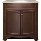Continental Cabinets Duvall Cafe Black Glaze 30-3/4 In. W x 34-3/4 In. H x 18-1/2 In. D Vanity with Top Image 4