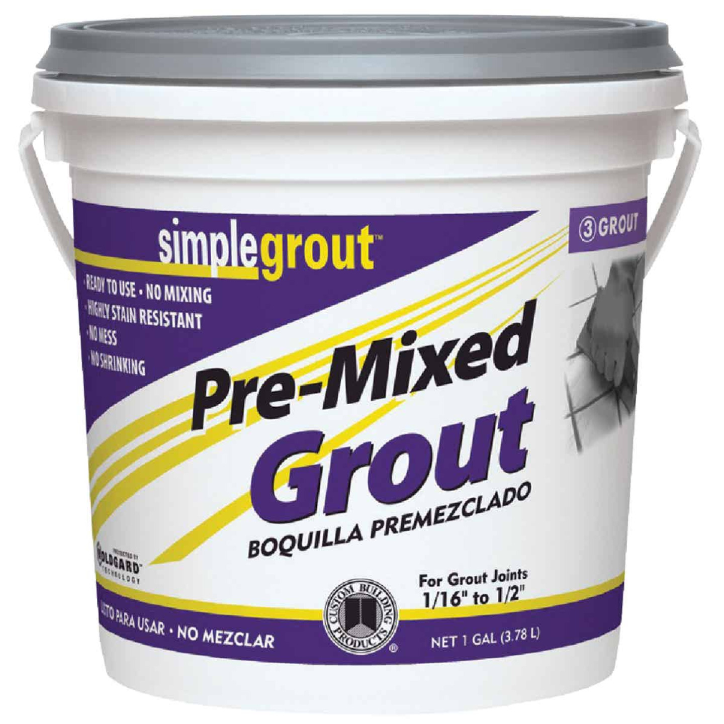 Custom Building Products Simplegrout Gallon Alabaster Pre-Mixed Tile Grout Image 1