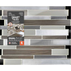Smart Tiles Approx. 9 In. x 11 In. Glass-Like Vinyl Backsplash Peel & Stick, Milano Argento Mosaic (6-Pack) Image 2