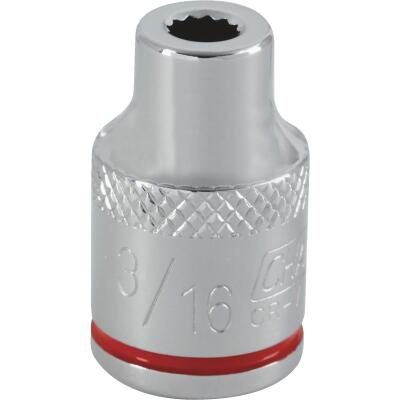 Channellock 3/8 In. Drive 3/16 In. 12-Point Shallow Standard Socket