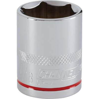 Channellock 1/2 In. Drive 7/8 In. 6-Point Shallow Standard Socket
