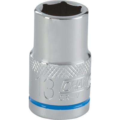 Channellock 1/2 In. Drive 13 mm 6-Point Shallow Metric Socket