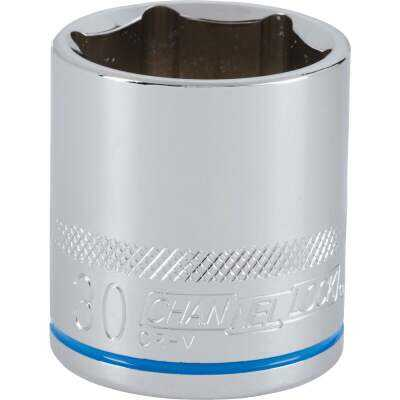 Channellock 1/2 In. Drive 30 mm 6-Point Shallow Metric Socket