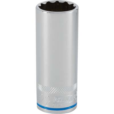 Channellock 1/2 In. Drive 22 mm 12-Point Deep Metric Socket