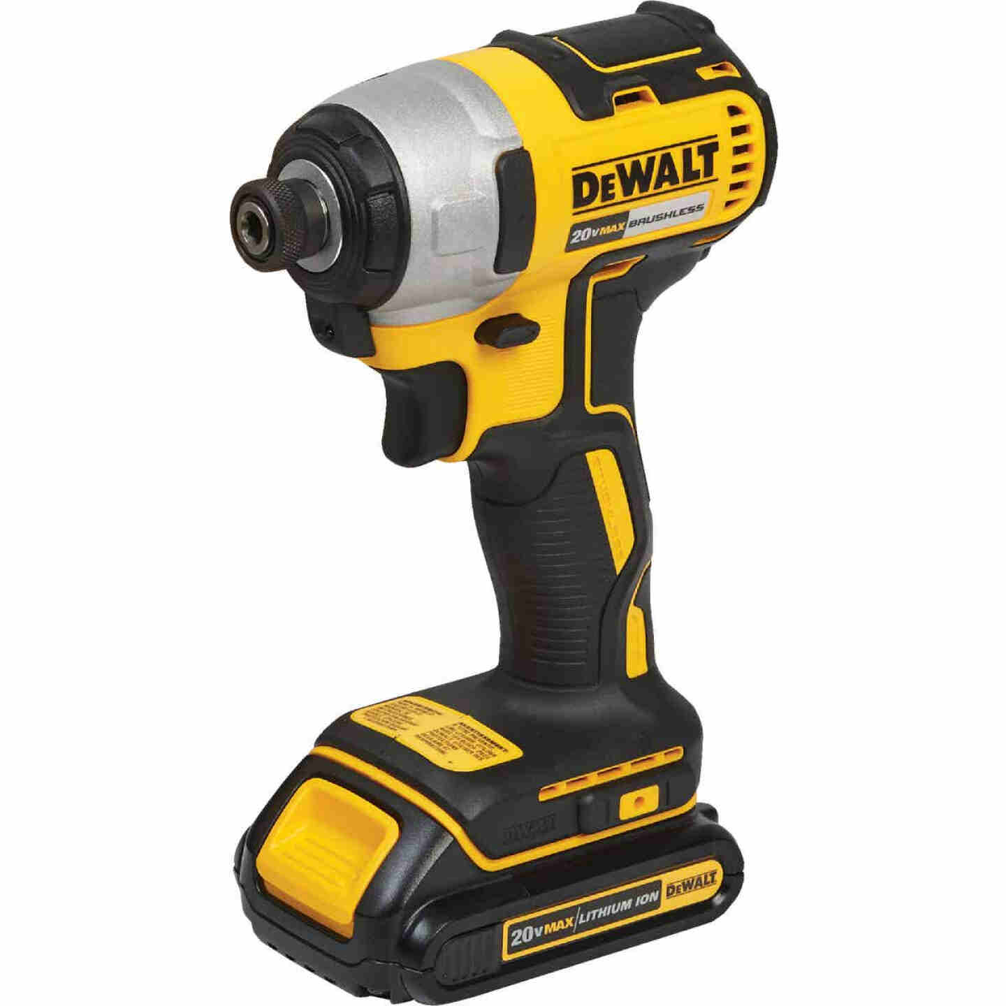 DeWalt 20 Volt MAX Lithium-Ion Brushless 1/4 In. Hex Cordless Impact Driver Kit Image 2