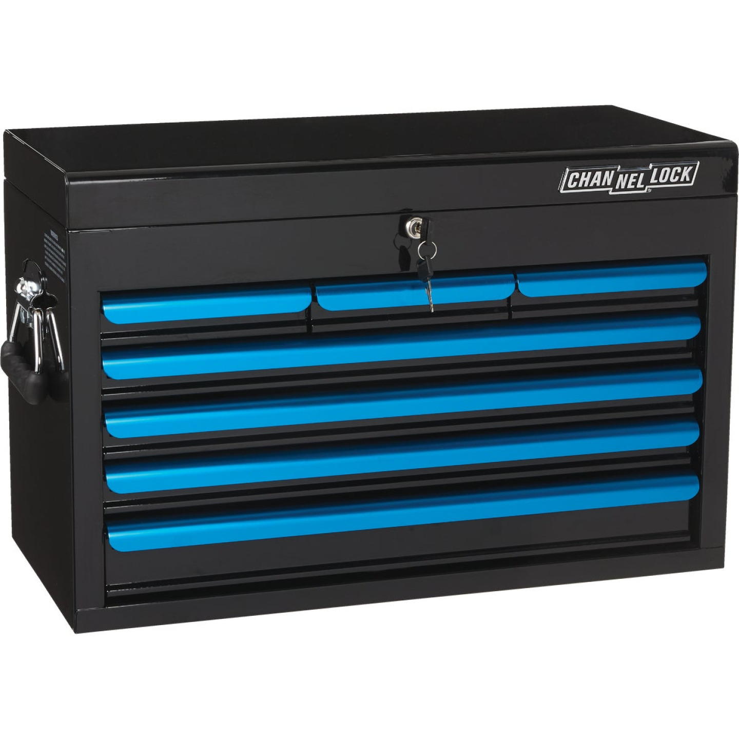 Channellock 26 In. 7-Drawer Black and Blue Tool Chest Image 1