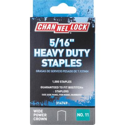 Channellock No. 11 Heavy-Duty Wide Power Crown Staple, 5/16 In. (1000-Pack)