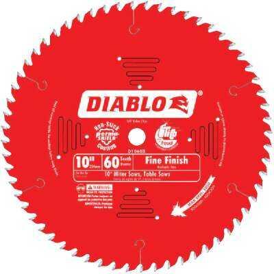 Diablo 10 In. 60-Tooth Fine Finish Circular Saw Blade