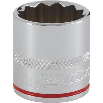 Channellock 3/8 In. Drive 7/8 In. 12-Point Shallow Standard Socket