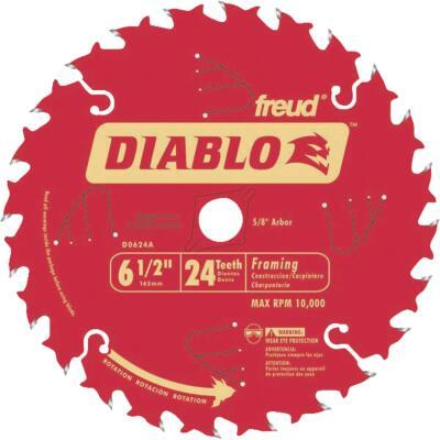 Diablo 6-1/2 In. 24-Tooth Framing Circular Saw Blade, Bulk