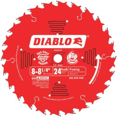 Diablo 8-1/4 In. 24-Tooth Framing Circular Saw Blade