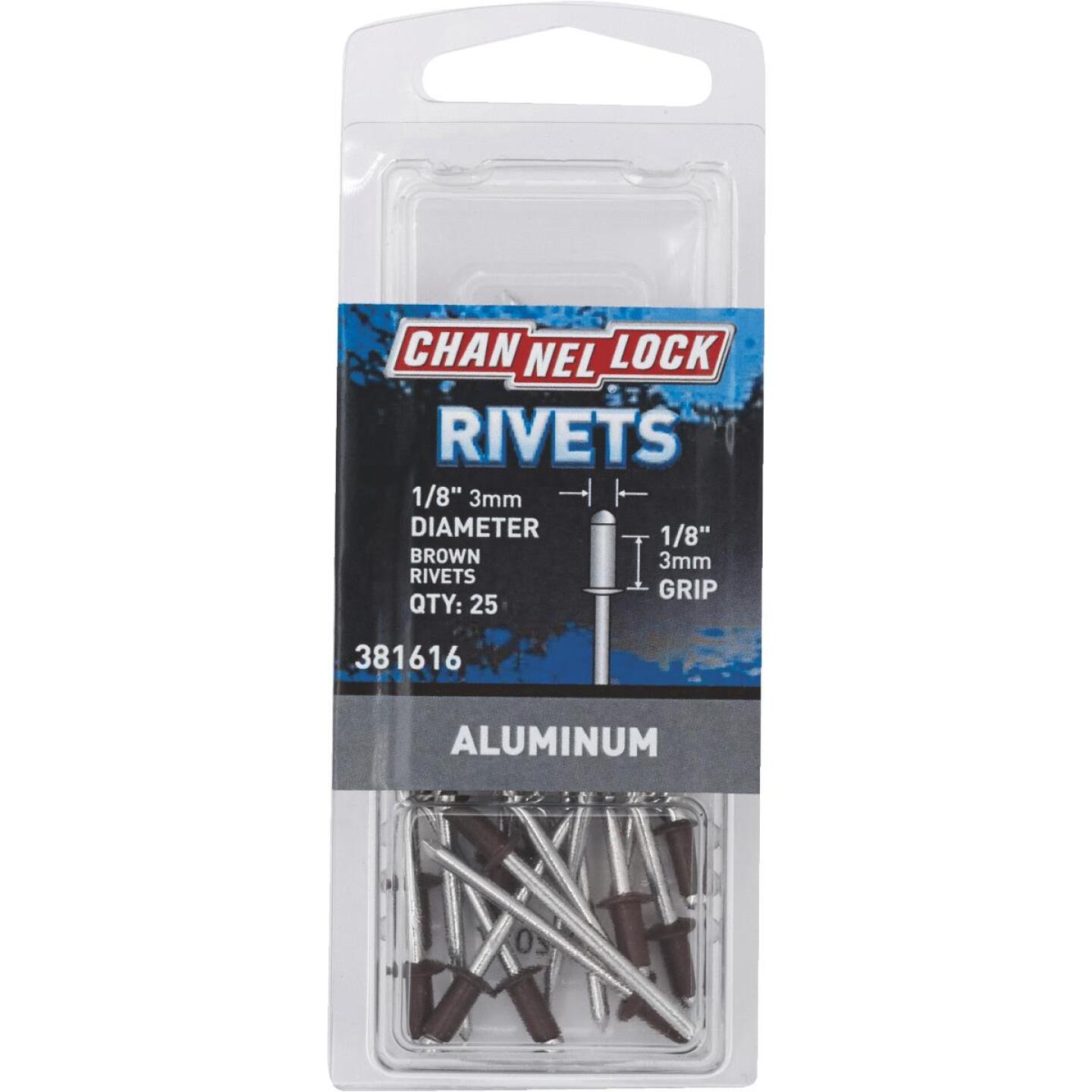 Channellock 1/8 In. Dia. x 1/8 In. Grip Aluminum POP Rivet (25-Pack) Image 1