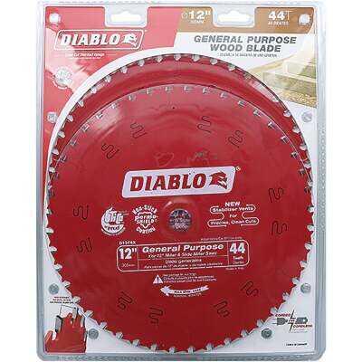 Diablo 12 In. 44-Tooth General Purpose Circular Saw Blade (2-Pack)