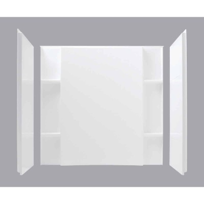Sterling 3-Piece 48 In. W. x 55-1/8 In. H. x 36 In. D. White Shower Wall Set