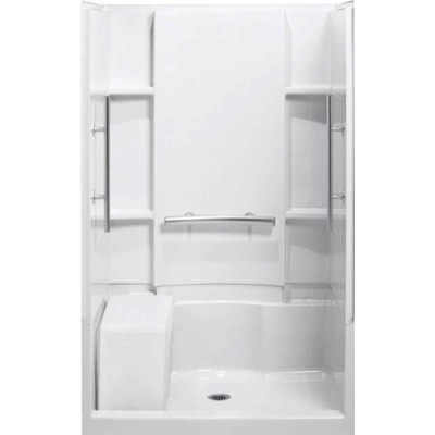 Sterling 3-Piece 36 In. W. x 55-1/8 In. H. x 48 In. L. White Shower Wall Set