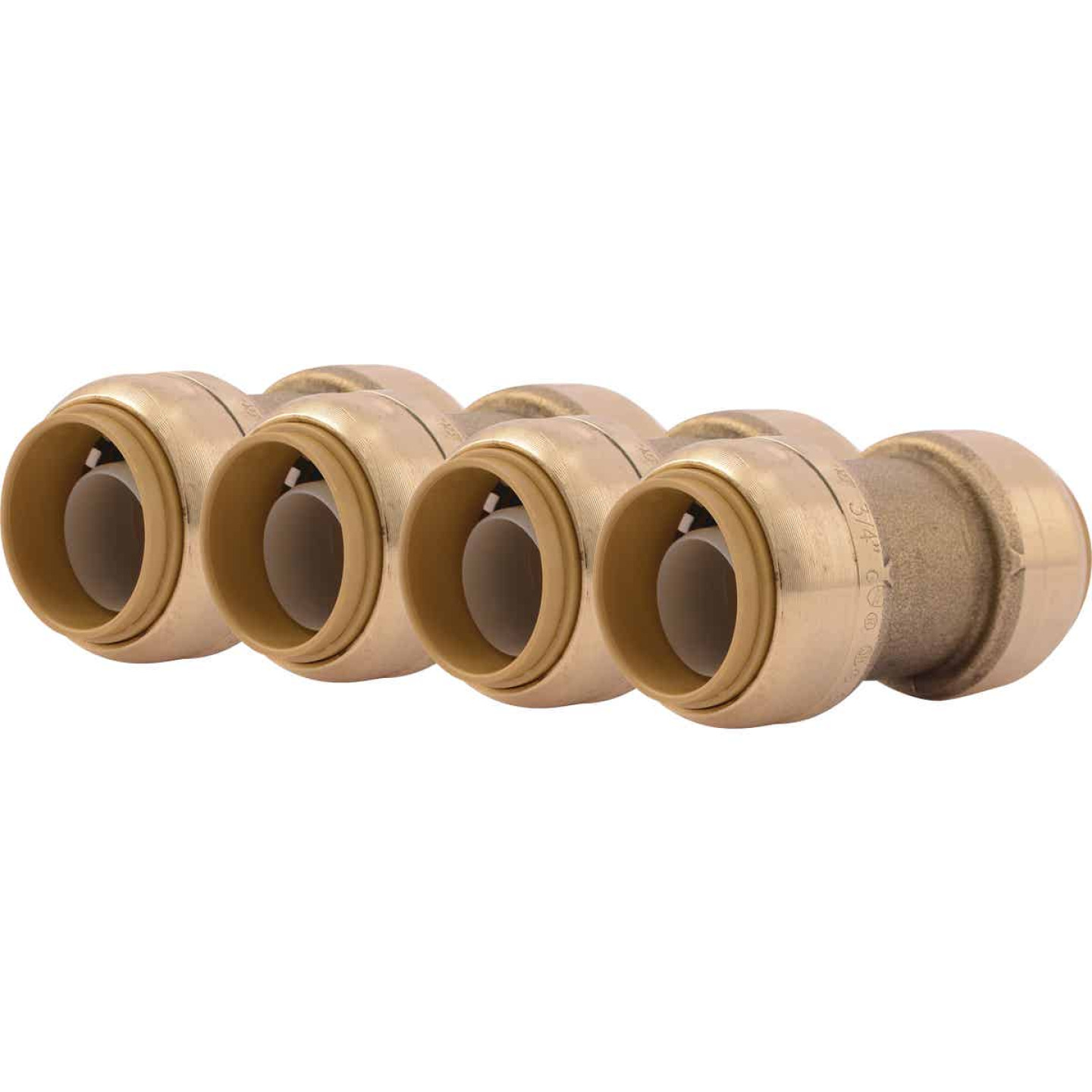 SharkBite 3/4 In. Push-to-Connect Straight Brass Coupling (4-Pack) Image 1