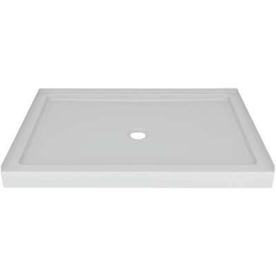 Delta Laurel 48 In. L x 34 In. D Center Drain Shower Floor & Base in White