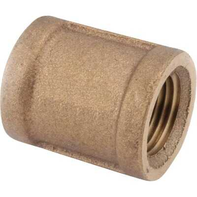 Anderson Metals 1/2 In. Threaded Red Brass Coupling