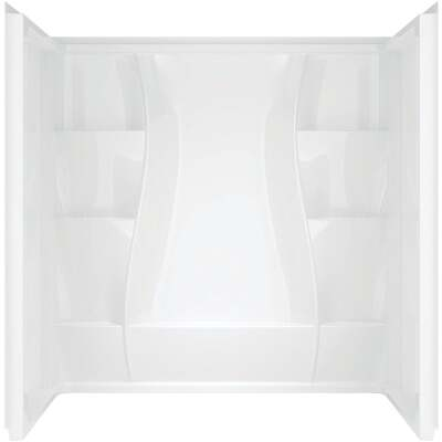 Delta Classic 400 3-Piece 60 In. L x 32 In. D Shower Wall Set in White