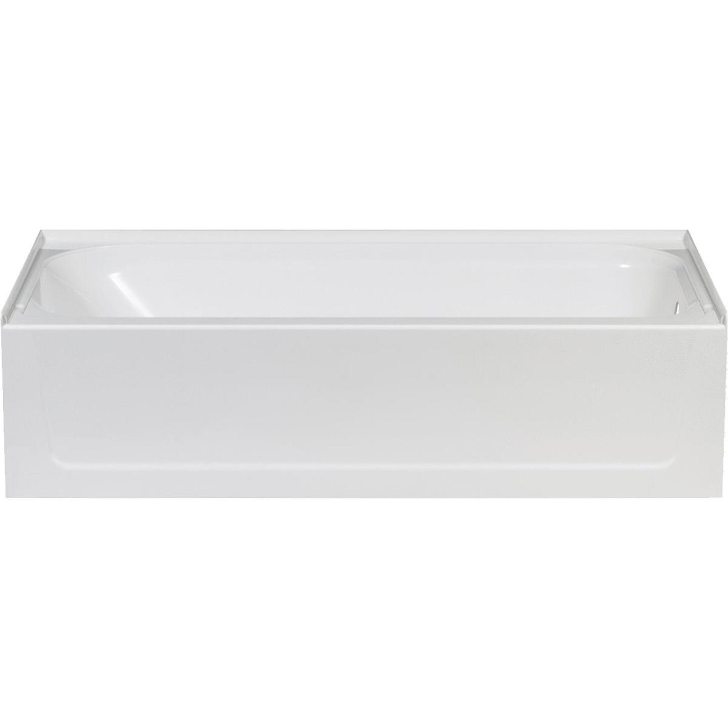 Mustee Topaz 60 In. L x 30 In. W x 16-1/2 In. D Right Drain Bathtub in White Image 1