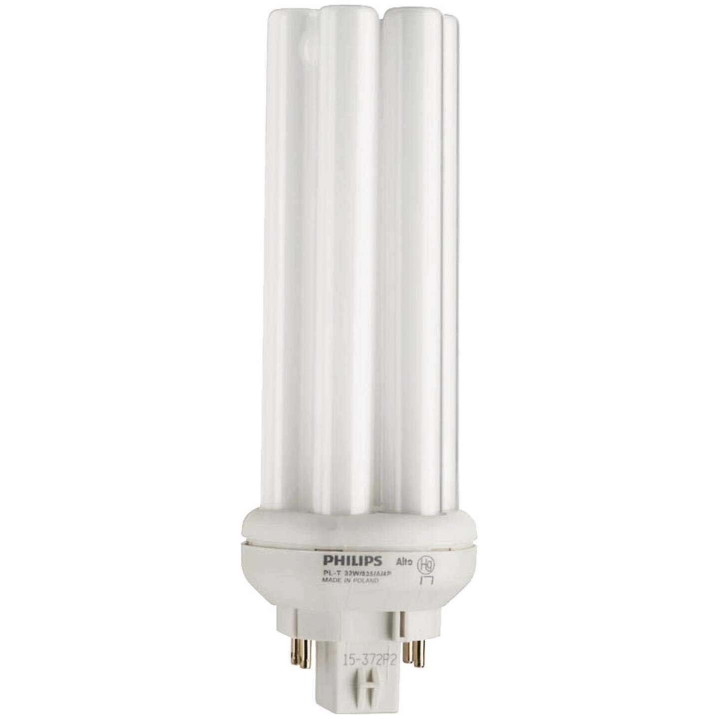 Philips 150W Equivalent Cool White GX24Q-3 Base PL-T CFL Light Bulb Image 1
