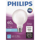 Philips 60W Equivalent Daylight G25 Medium Frosted LED Decorative Light Bulb Image 2