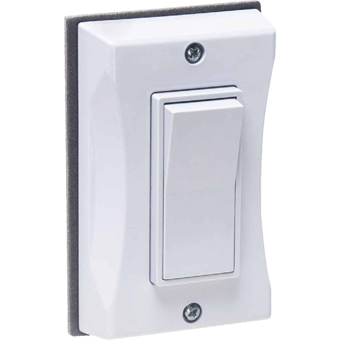 Bell Single Gang Vertical Mount White Weatherproof Outdoor Rocker Switch Cover Image 1